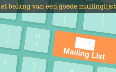Het belang van een mailinglijst